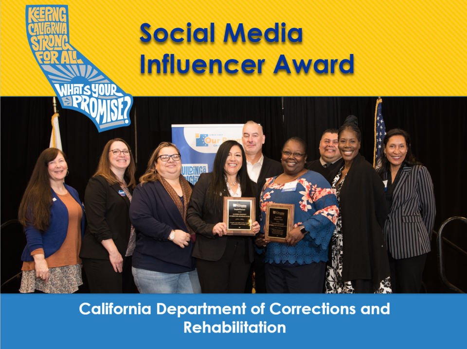 Social Media Influencer Award - Department of Corrections and Rehabilitation