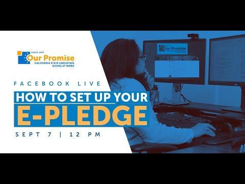Video Tutorial: How to Set Up Your e-Pledge
