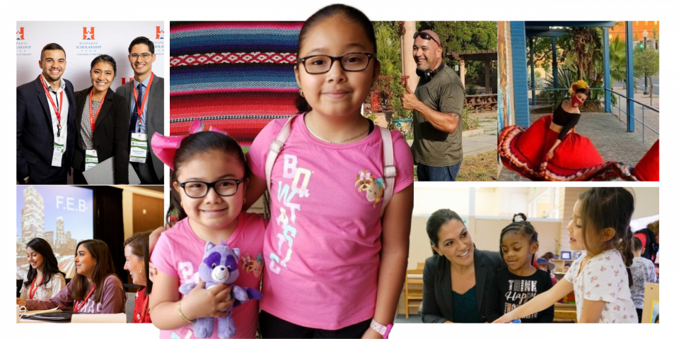 Photos of various Latinos, Latinas from different organizations.